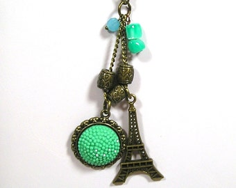 Tiny Eiffel Tower Necklace / Pendant