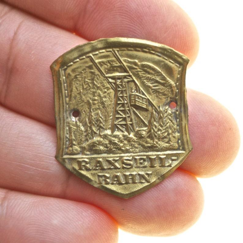 Raxseil Bahn Original Stocknagel Walking Stick Badge Miniature Etsy