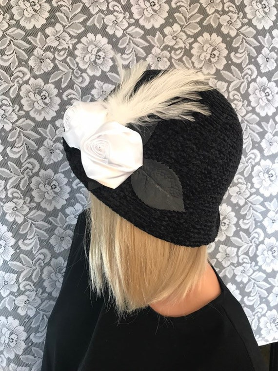 62ded1b4523 Black Chenille Cliche Bucket Hat