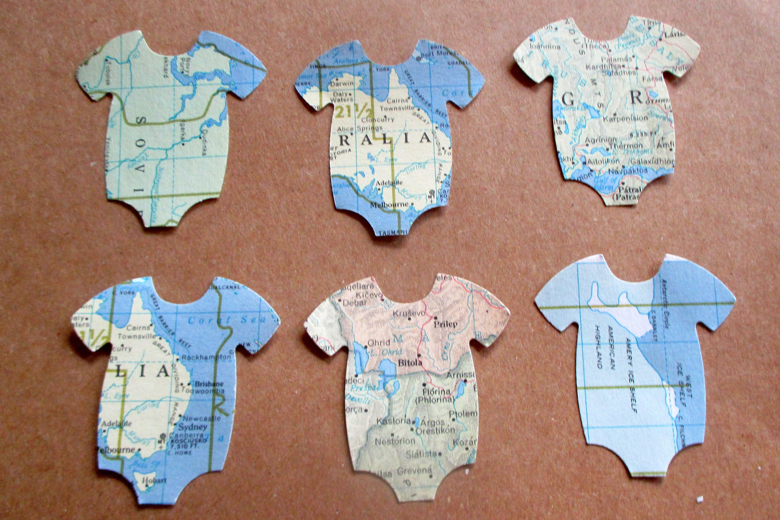 19bac61e6 100CT Onesie Confetti Baby Shower Decorations Boy Travel