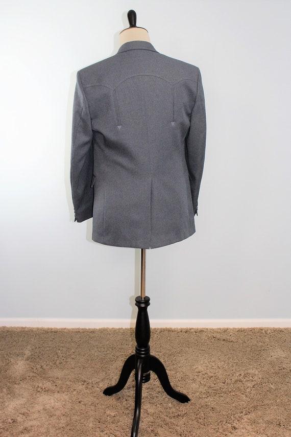 Western Suit Jacket / Cowboy / Vintage Circle Dal… - image 4