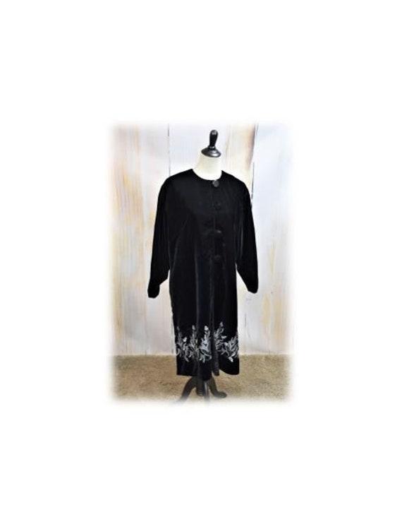 Velvet Opera Coat / Vintage Velvet Jacket / Velvet