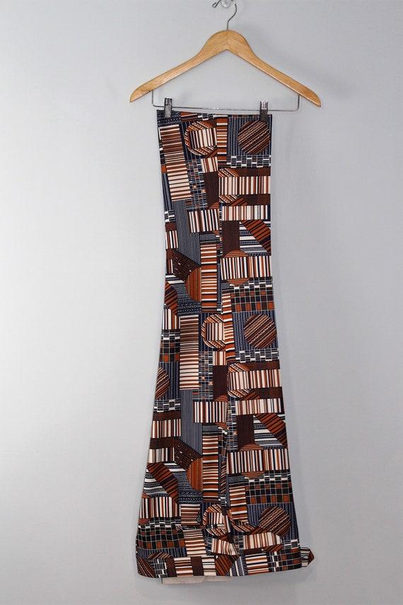 1970's Funky Polyester Pants / Disco / Print / Hi… - image 4