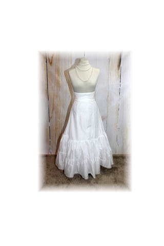 Full Length Crinoline Bridal Renaissance Civil War Victorian  FULL SILHOUETTE Petticoat-XSmall-Small (BB7)