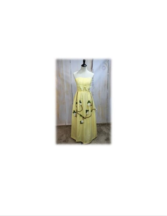 Vintage Gown / 1960's Gown / Dogwood Gown / Vintag