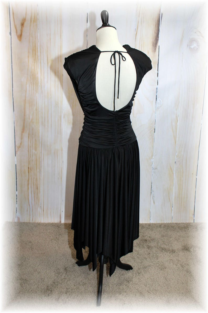 K139 1980/'s Club Dress  Vintage 80/'s Dress  1980/'s Dress  80/'s Black Dress