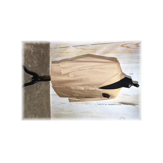 Tan Pinstripe Zoot Suit Jacket / 1920's-1940's Zoo