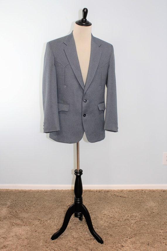 Western Suit Jacket / Cowboy / Vintage Circle Dal… - image 2