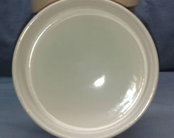 Bornholm Beige by DANSK Set of 5 Coupe Soup Bowls White On Top, Beige Bottom