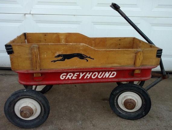 Rare Vintage Hamilton Greyhound Coaster Wagon With