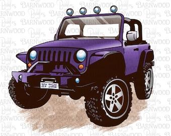 Purple Jeep PNG Clipart, Instant Digital Download, Sublimation Designs, Printable Art