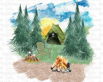 Camping PNG, Clipart, Instant Download, Sublimation Design,  Social Distancing, Campground