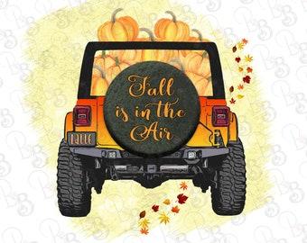 Fall Pumpkin Jeep Truck PNG  Clipart, Fall is in the Air, Pumpkin Latte, Instant Digital Download, Sublimation File Designs, Printable Art