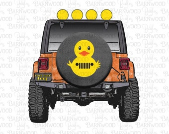 Duck Jeep Orange Png Clipart, Instant Digital Download, Jeep Sublimation Designs Graphics, Duck Duck Jeep