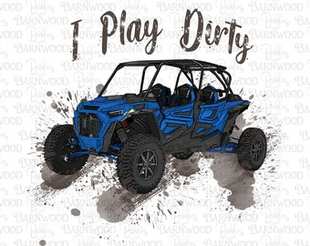 RZR Side by Side Blue Png Clipart, Instant Digital Download, Sublimation Designs, Razor Png files tshirts