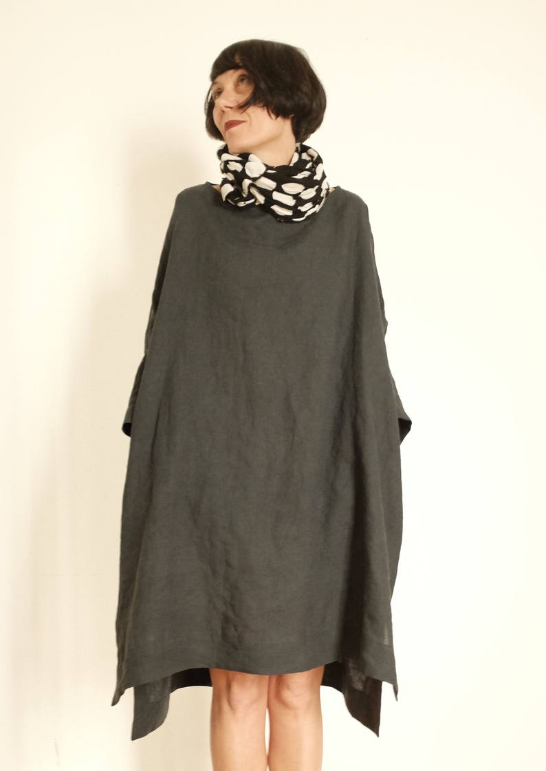Plus Size Linen Tunic - Plus Size Linen Dresses - Linen Tunic XXL -  Oversized Linen Clothing - Linen Maxi Dress - Summer Dresses For Women