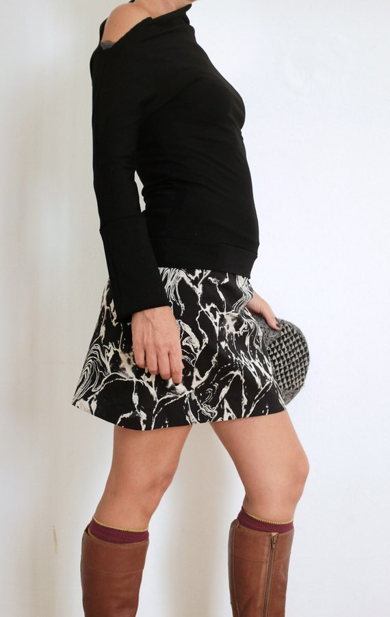 Sweater Winter Womens Clothing Black Shirt Asymmetrical  5bf45c0ef