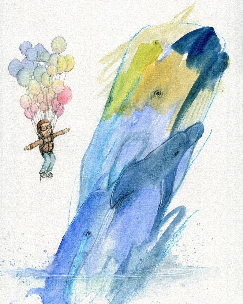 ART PRINT  Learn to Soar  Toddler Collaboration image 0