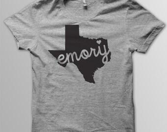 Custom TEXAS Hometown Tri blend Tshirt