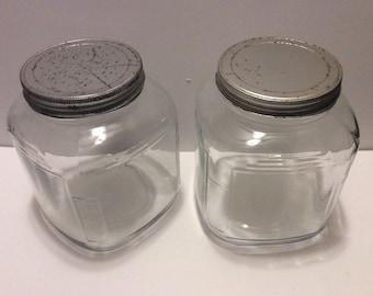 Vintage storage jars Etsy