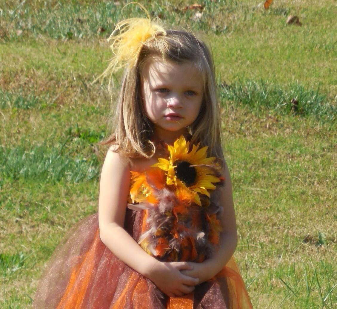 Sunflower Flower Girl Dress Rustic Wedding Flower Girl Etsy