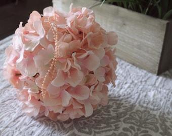 Pink Hydrangea Kissing Ball