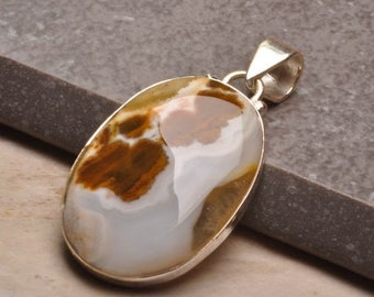 Beautiful Crazy Lace Agate Pendant in 100% 925 Sterling Silver