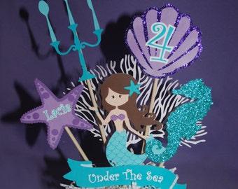 Mermaid Centerpieces, Little Mermaid Centerpiece, Mermaid Birthday, Mermaid Party, Ariel Birthday, Ariel Party, The Little Mermaid Birthday