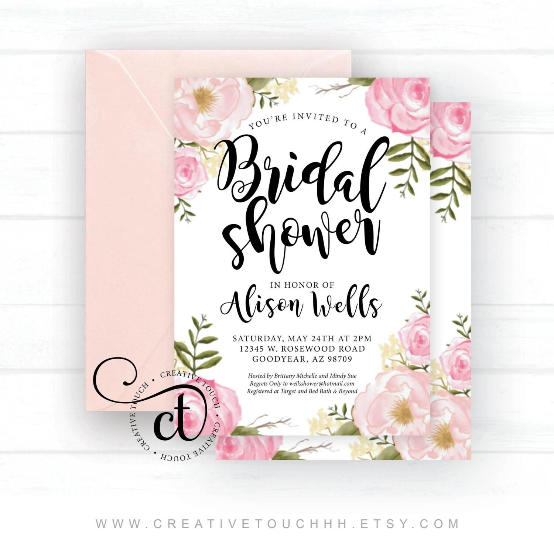 Bridal Shower Invitation Bridal Shower Invite Miss to Mrs. | Etsy
