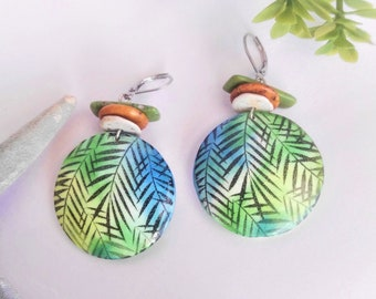 Tropical Summer Earrings in Polymer Clay