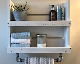 towel shelf etsy