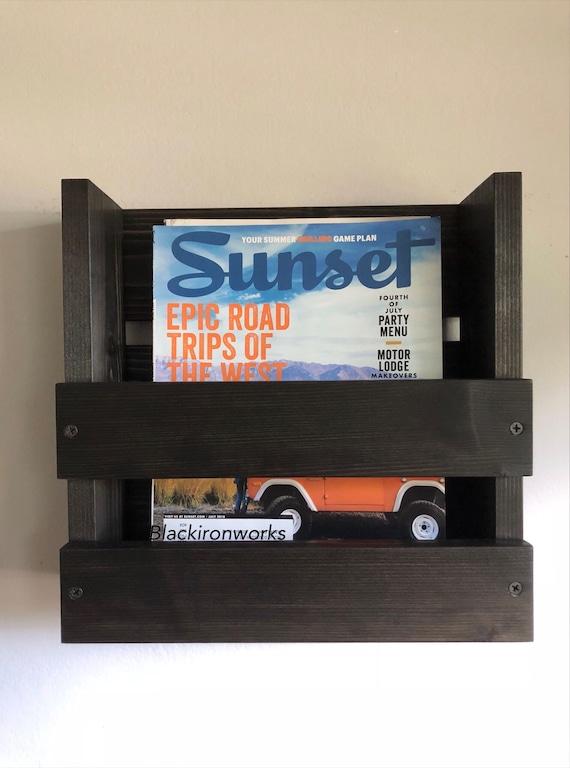 Magazine Rack Office Wall Mounted Magazine Rack Wood Magazine | Etsy