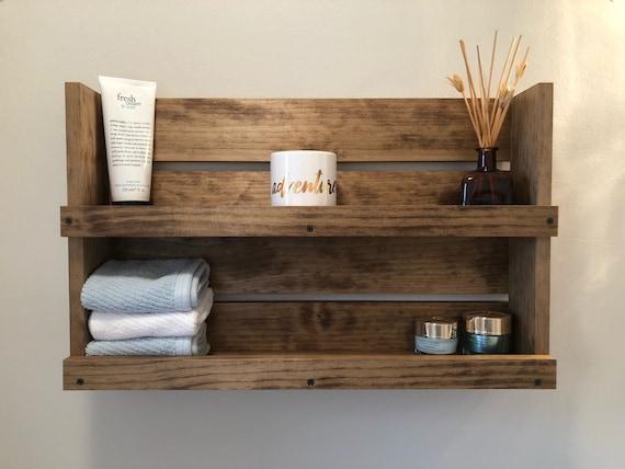 Bathroom Rustic Shelf Storage, Country Bathroom Shelves
