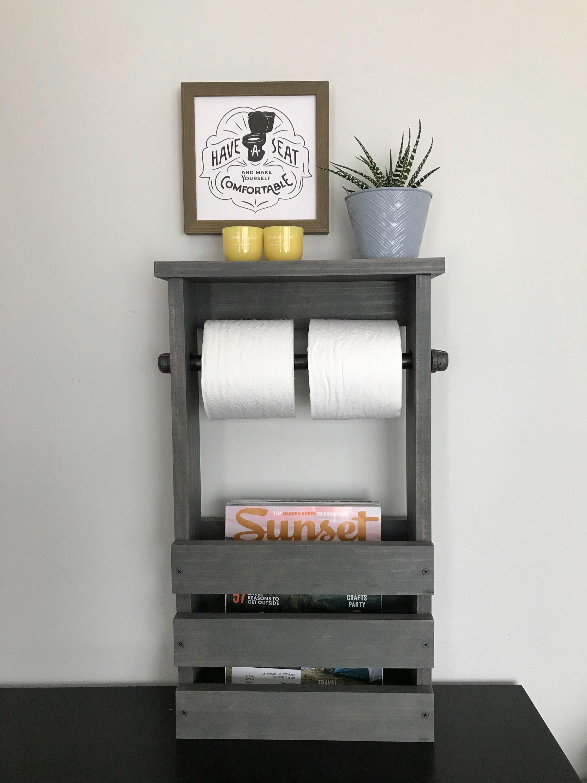 Bathroom free standing toilet paper holder with black iron - Bathroom toilet paper holder free standing ...
