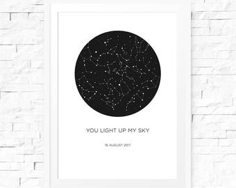 picture relating to Constellation Printable titled Tailor made constellation Etsy