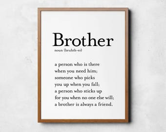 Brother quotes | Etsy