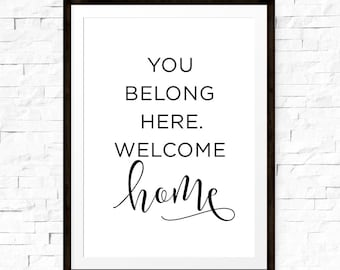 image regarding Welcome Home Sign Printable known as Its as a result beneficial toward be house printable Household Decor Printable Wall