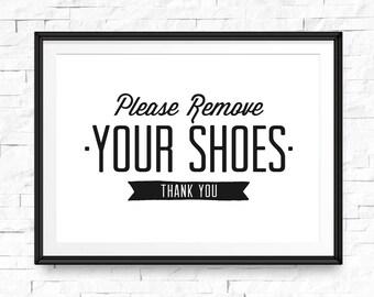 image regarding No Shoes Sign Printable named Footwear off printable Etsy