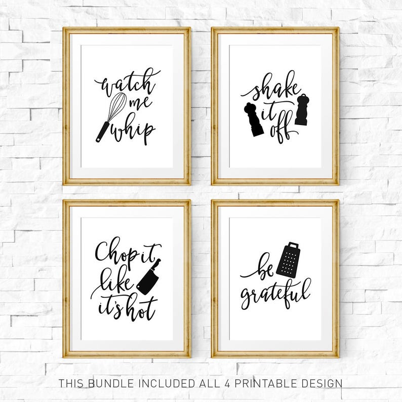 picture regarding Printable Kitchen Art identify Kitchen area symptoms, Kitchen area print fastened, Printable artwork, See me whip, They look at me rollin, Kitchen area prints, Preset of 4 prints, Kitchen area artwork preset