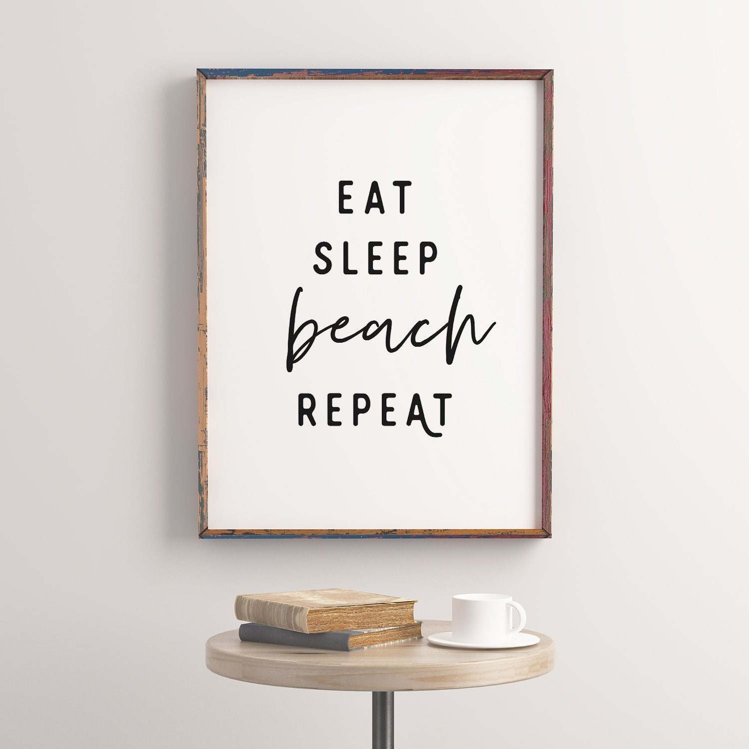 Gift DIY paintable saying Home decor Eat Sleep Beach Repeat Unfinished Wooden Cutout Wall Art Etched Art Shape