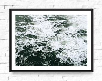 Ocean photography, Large wall art, Ocean printable, Ocean print, wave print, Sea wall art, Ocean photo, Ocean waves print, Waves art
