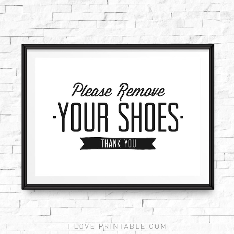 photograph about Shoe Printable referred to as Remember to take away your sneakers printable, Consider footwear off indicator, Shoe off indication, Sneakers off print, Sneakers off make sure you, Sneakers off printable