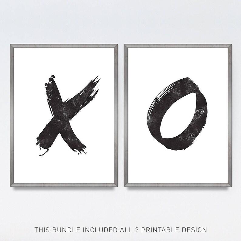 photo relating to Printable O named X and O artwork, Printable poster, Printable preset of 2, Minimalist artwork, XO print fastened, XO, Brushstroke artwork, Black and white,