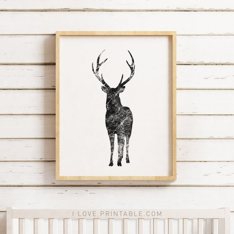 photograph relating to Printable Deer Antlers identified as Deer Artwork, Printable Artwork, Black and White Artwork, Deer Antlers, Deer Portray, Deer Nursery, Silhouette Artwork, Case in point Print, Animal Print