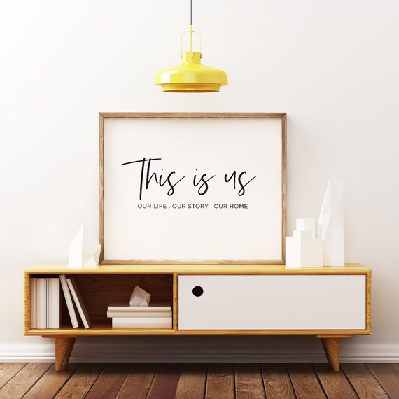 This Is Us Sign Family Sign Home Decor Housewarming Gif Etsy
