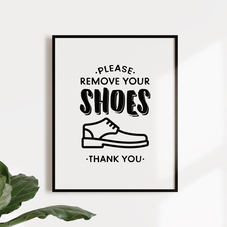 photograph about No Shoes Sign Printable identified as You should clear away your footwear printable indication, No footwear signal, No sneakers inside Place, Footwear off print, Access course decor, Mud area indication