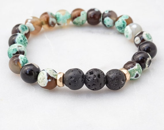 Lava and Agate bracelet