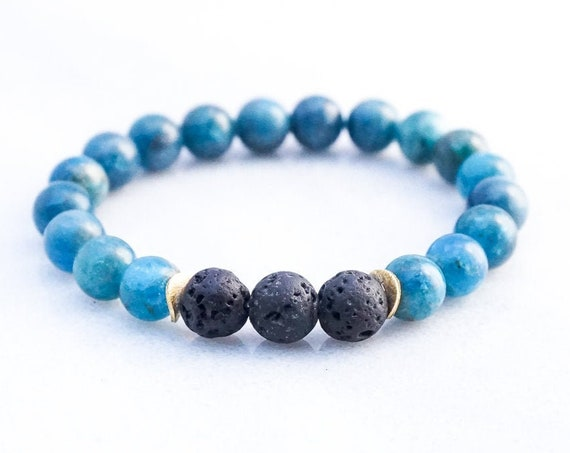 Lava and Apatite bracelet