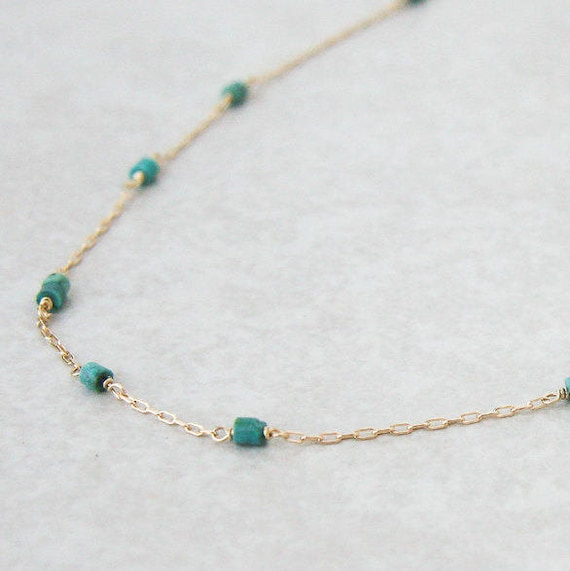 Stepping Stones Turquoise necklace