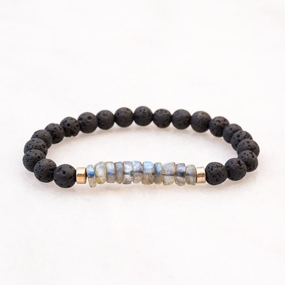 Lava and Labradorite bracelet